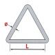 Anneaux soudés - Triangle soudé
